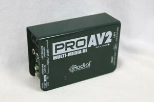 Radial Engineering ProAV2 Stereo Passive MultiMedia Direct Box DI Pro AV2