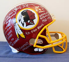 Chris Hanburger 10 Inscriptn 72 Champ Stat Redskins FS Helmet Direct From Agent!