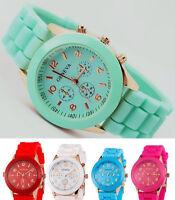 Geneva Unisex Quartz Watch Boys Girls Silicone Gel Sports - Choice of 5 Colours