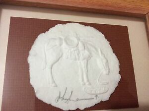 """AUTHENTIC John Saunders NM Paper Artist Casting of a Horse - 8"""" x 4"""""""