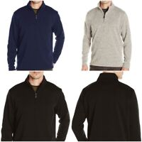 Men's Wrangler Quarter Zip Knit Fleece Sweater Jumper Sweatshirt
