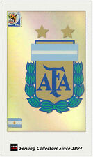 #6 Argentina Logo 2010 Panini World Cup Soccer Trading Card