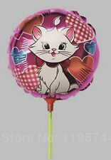 20 x small size MARIE ARISTOCATS kitten foil balloons with stick Only 50p each!!
