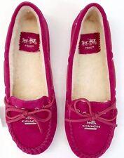 Coach Shoes Austin LoaSuede Women's Size 7M (Cranberry)