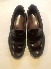 """G.H. BASS WEEJUNS """"Logan"""" 9 EE Wide Penny Loafer Burgundy Leather  Mens"""