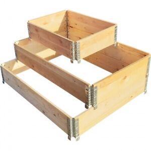 Palettenrahmen Aufsatzrahmen Hochbeet Gartenbeet Europalette Holz Klapprahmen