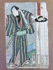 Standing Kabuki Actor by Utagawa Kunisada ORIGINAL Woodblock Print