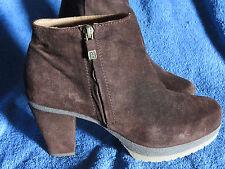 Stiefeletten, Ankle Boots,Gr. 37, Wildleder, braun, kurz, neuwertig