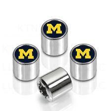 New NCAA Michigan Wolverines Car Truck Chrome Finish Tire Valve Stem Caps Covers