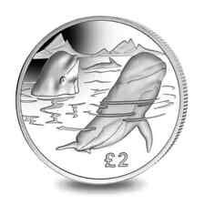 2017 South Georgia & Sandwich Islands Silver Pilot Whale Proof Coin low mintage!