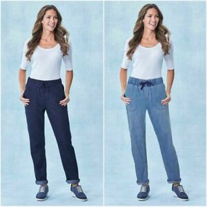 Anthology Ladies Smart Casual Relaxed Slouch Elasticated Jeans Size 10 Waist 28