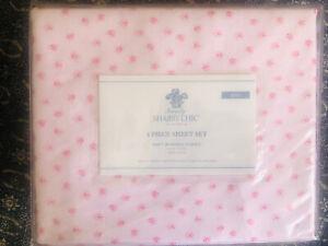Rachel Ashwell Simply Shabby Chic King Mon Ami Sheet Set Pink Roses Polyester