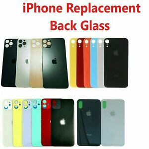 For iPhone X XR XS XS Max Back Glass Housing Battery Cover Big Hole Replacement