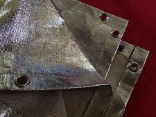 2 X Aluminized Welding Fire Blanket Heat Fiberglass 4 x 6 Shield ARC MIG TIG