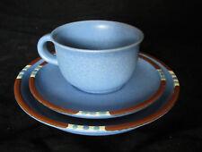 "Dansk Mesa Blue Stoneware Cup, Saucer & 7"" Plate Trio"