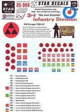 Star Decals 1/35 BRITISH 3rd INFANTRY DIVISION THE IRON DIVISION Arms of Service