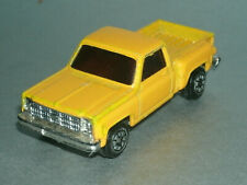 1/64 Scale 1970's Chevrolet Stepside Pickup Truck Diecast Hong Kong Toy Yellow
