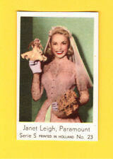 Janet Leigh with Doll Vintage Movie Film Star Card Holland #S23 in Wedding Dress