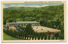 Casino White Sulphur Springs West Virginia linen postcard