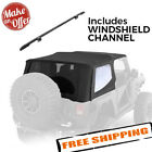 Smittybilt 9973235 Bowless Soft Top Windshield Channel - 1997-2006 Wrangler Tj