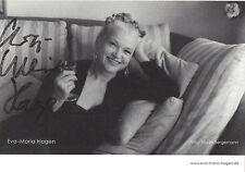 Originalautogramm - Eva-Maria Hagen