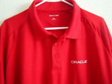 ORACLE Employee SPORT TEX Red Athletic Performance Golf Polo Shirt Men 2XL NWT
