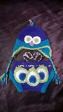 Peacock Crochet Baby Hat and Diaper Cover
