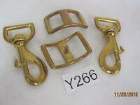 Swivel Clip and Strap Adjuster Solid Brass Vintage OR Antique Purse Hardware
