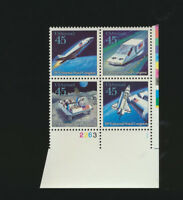 Futuristic Mail Delivery 1989 Se-Tenant Mint NH Airmai Plate #Block # C122 - 125