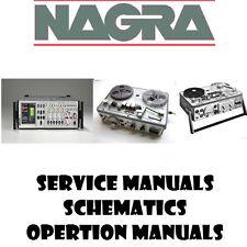 Nagra Operation Repair Service Schematics Manuals- PDF manuals DVD - Huge Set
