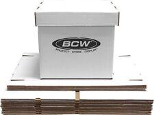 5 New 33 1/3 RPM 12 Inch Record Storage Box LP Album White Boxes