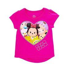 NWT Disney Tsum Tsum Heart Girls Pink Short Sleeve Shirt 4 Valentinte's Day