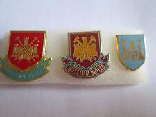 lotto 3 pins lot WEST HAM FC club spilla football calcio badge spille