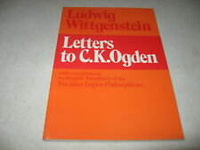 Letters to C.K. Ogden with Comments on the English Translation of the Tractatus