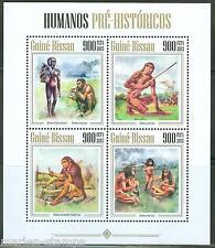 GUINEA BISSAU 2013 PREHISTORIC HUMANS  CAVEMEN  SHEET  MINT NH