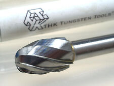 10MM OVAL THK Tungsten Carbide Rotary ALUMINUM CUT Burr 6MM Shank (150MM-E10)