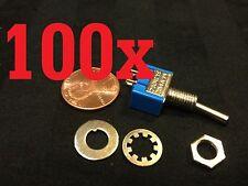 100x ON-OFF Toggle Switch SPST MTS-101 6mm 1/4 sub miniature on off 100pcs  b12