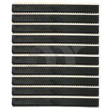 10 Pcs 2.54mm 40 Pins 1x40 Female Header Socket PCB Connector Single Row Kit