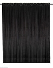 Black Velvet Custom Panel Drape 8W x 8H Photo Shoot Display Backdrop Curtain
