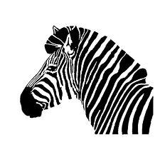 Zebra Head Vinyl wall decal