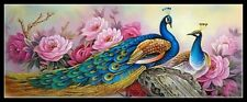 Peacocks 3 - Chart Counted Cross Stitch Patterns Needlework DIY DMC Color