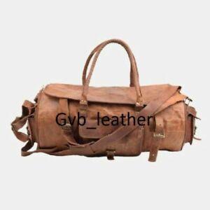 "30"" Vintage Genuine Leather Holdall Travel Weekend Luxurious Sports Duffel Bag"