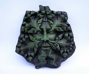 Green Man Reproduction Medieval Cathedral Carving New Pagan Gothic Greenman Gift