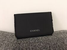 CHANEL Small Black Makeup Cosmetic Bag Cards Purse Earphone Pouch NEW (14x9.3cm)