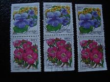 SUEDE - timbre yvert et tellier n° 2043 2044 x3 obl (A29) stamp sweden (O)