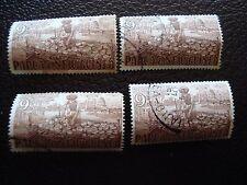 PAPUA NUOVA GUINEA francobollo yvert e tellier n° 9 x4 obliterati A03 timbro ha