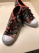 Pink Floral High Top Hidden Wedge Heel Sneaker Size 8.5 Med