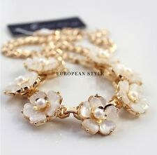 N1006 Forever 21 Shell Flower Oyster Bridesmaid Wedding Accessories Necklace UK