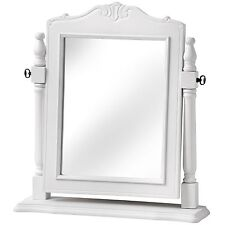 White Vanity Mirror Modern French Style Dressing Table Top Mirror Wood