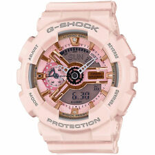 G-Shock Womens Pink Watch GMAS110MP-4A1 Resin Band Analog Digital Mens Gold Pink